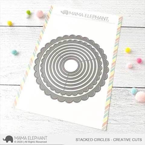 Mama Elephant Stacked Circles - Creative Cuts