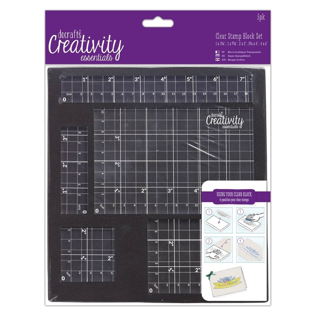 DoCrafts Clear Stamp Block Set