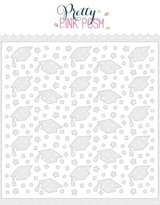 Pretty Pink Posh Graduation Stencil