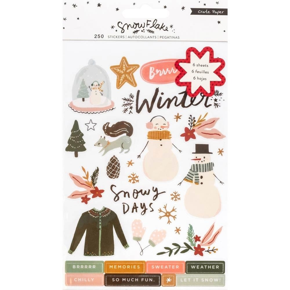 Snowflake Sticker Book 250/Pkg