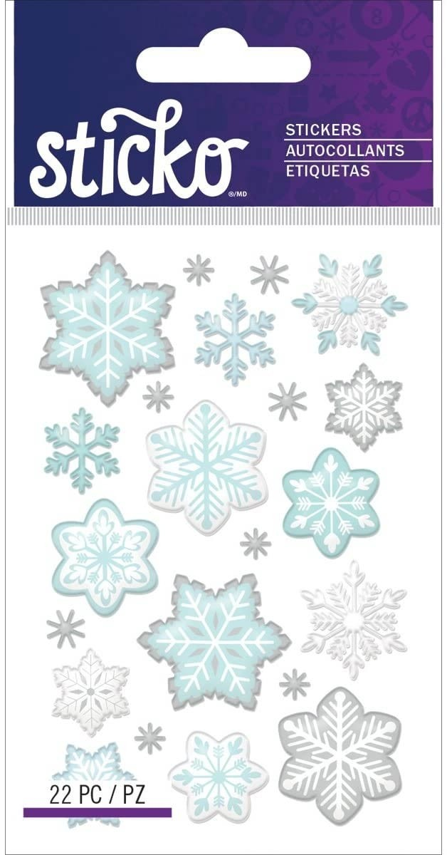 Mini Snowflake Stickers