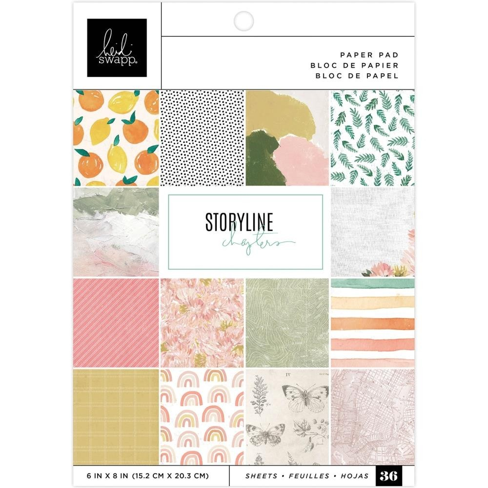 "Heidi Swapp Single-Sided Paper Pad 6""X8"" Storyline"