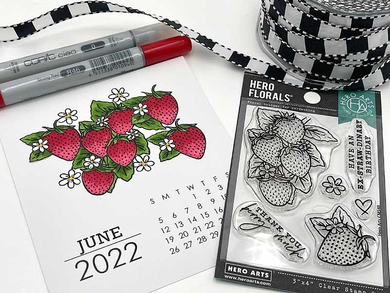 Hero Florals Strawberries Clear Stamp CM540