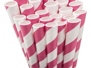 Paper Straws - pink