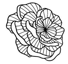 5748E - striped rose stamp