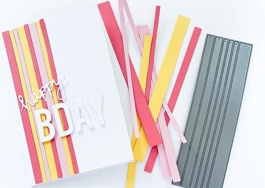 Impress Varied Stripes Die