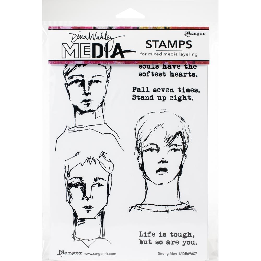 Dina Wakley Strong Men Stamp Set