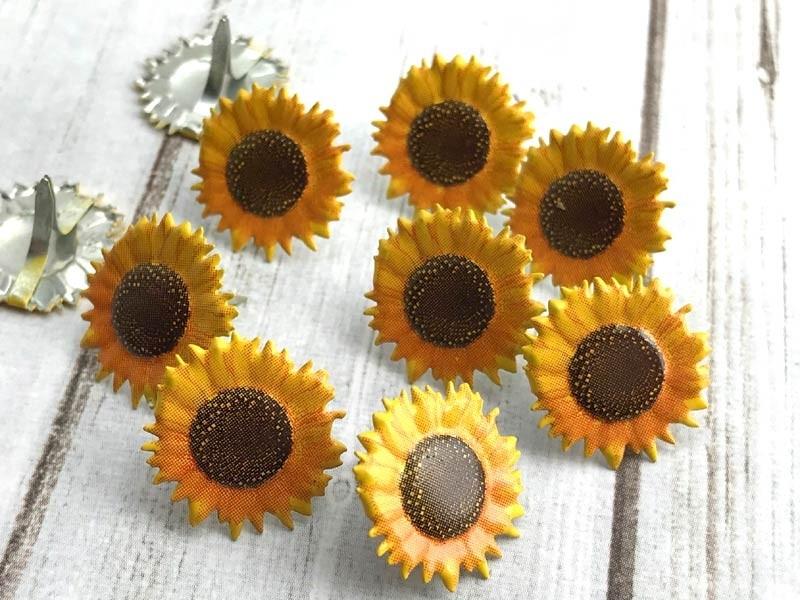 Sunflower Brads