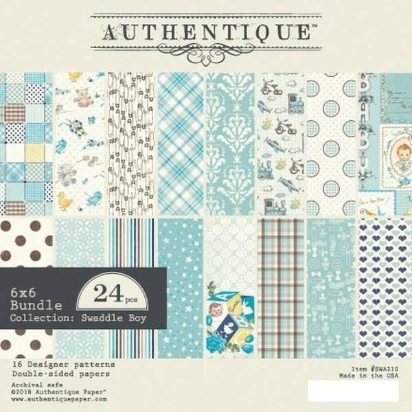 Authentique Swaddle Boy 6x6 Paper Pack