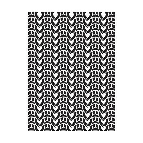 Knit Embossing Folder