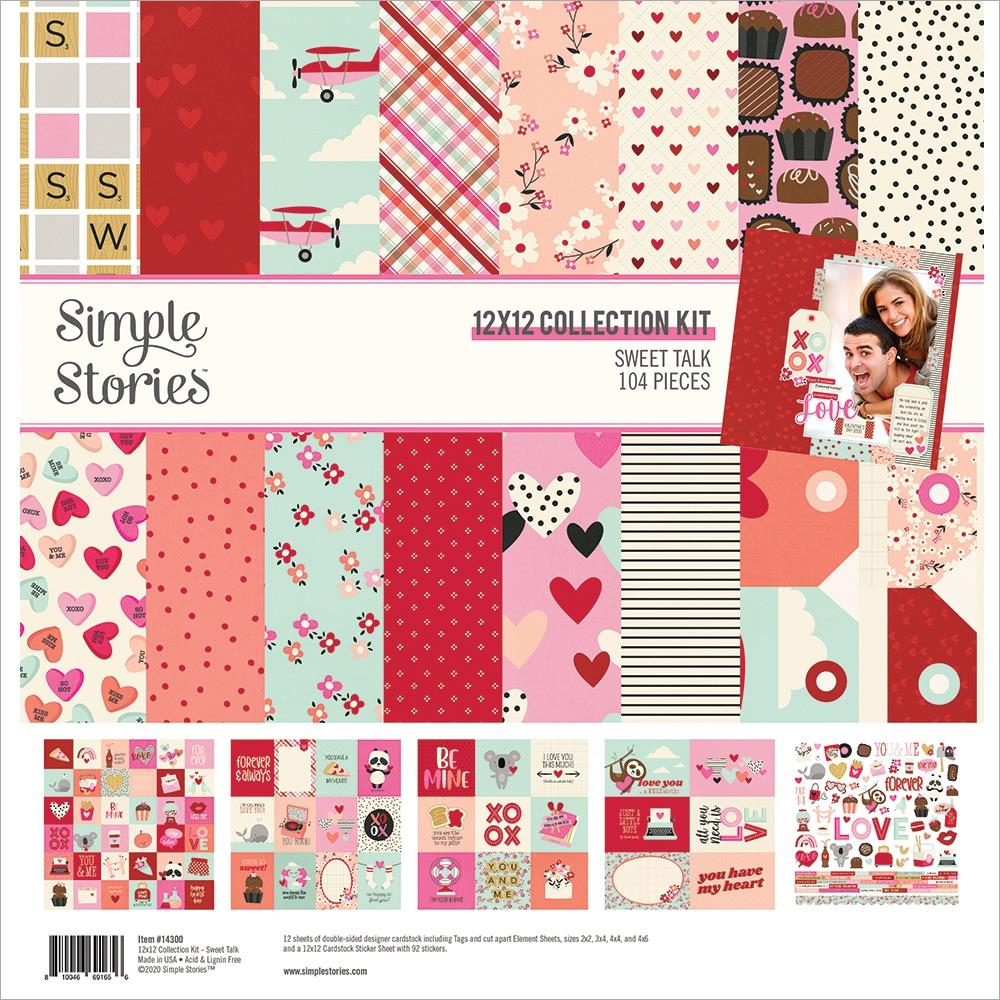 """Simple Stories Sweet Talk Collection Kit 12""""X12"""""""