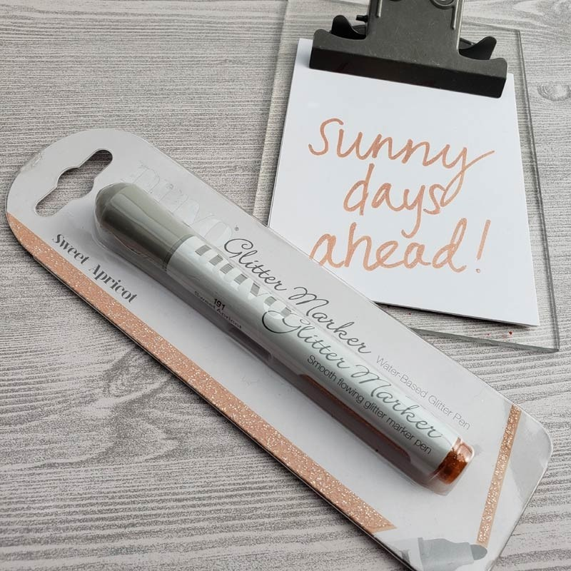 Sweet Apricot Glitter Marker