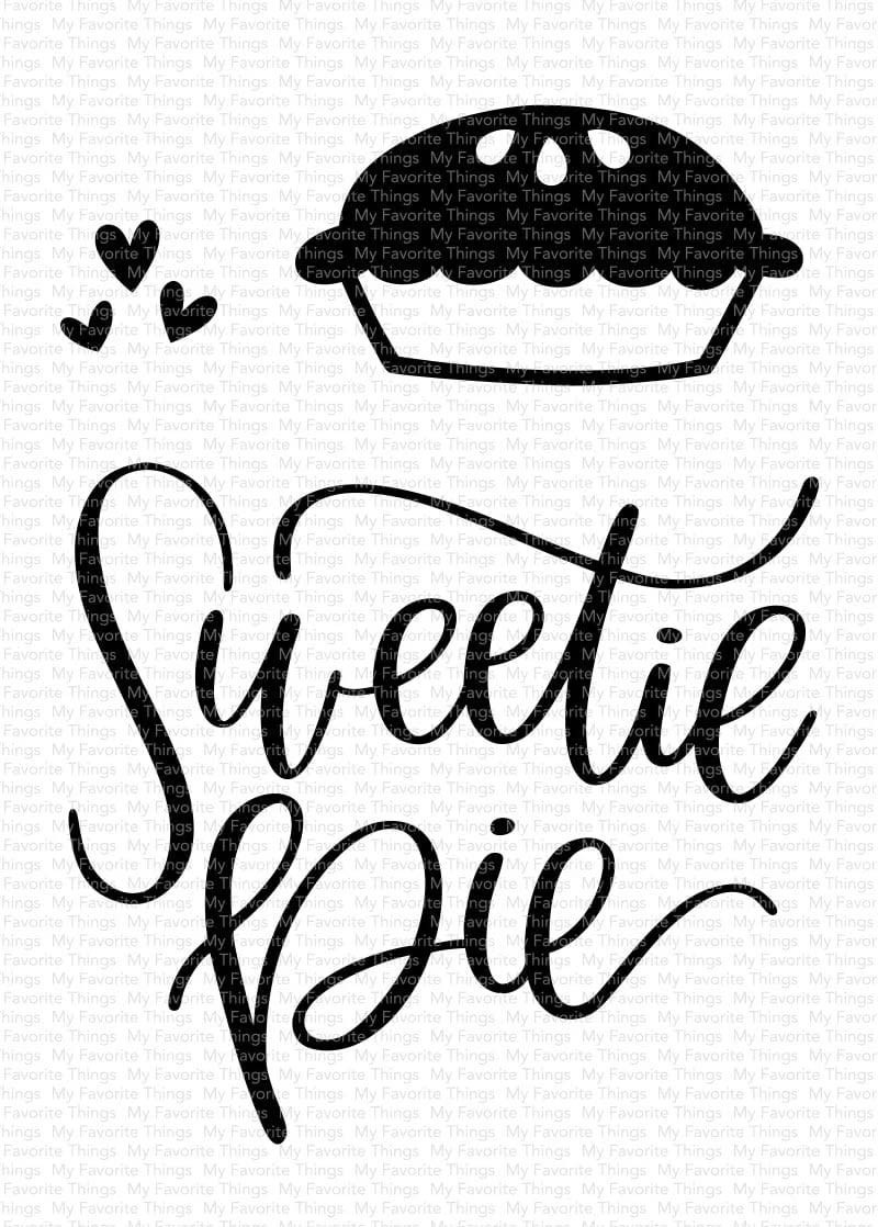 SALE - My Favorite Things Sweetie Pie Clear Set and Die