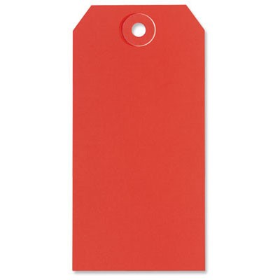 Red Shipping Tags