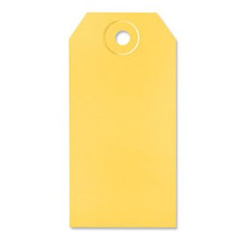 Yellow Shipping Tags