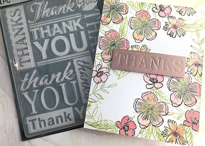 Thank You Embossing Folder