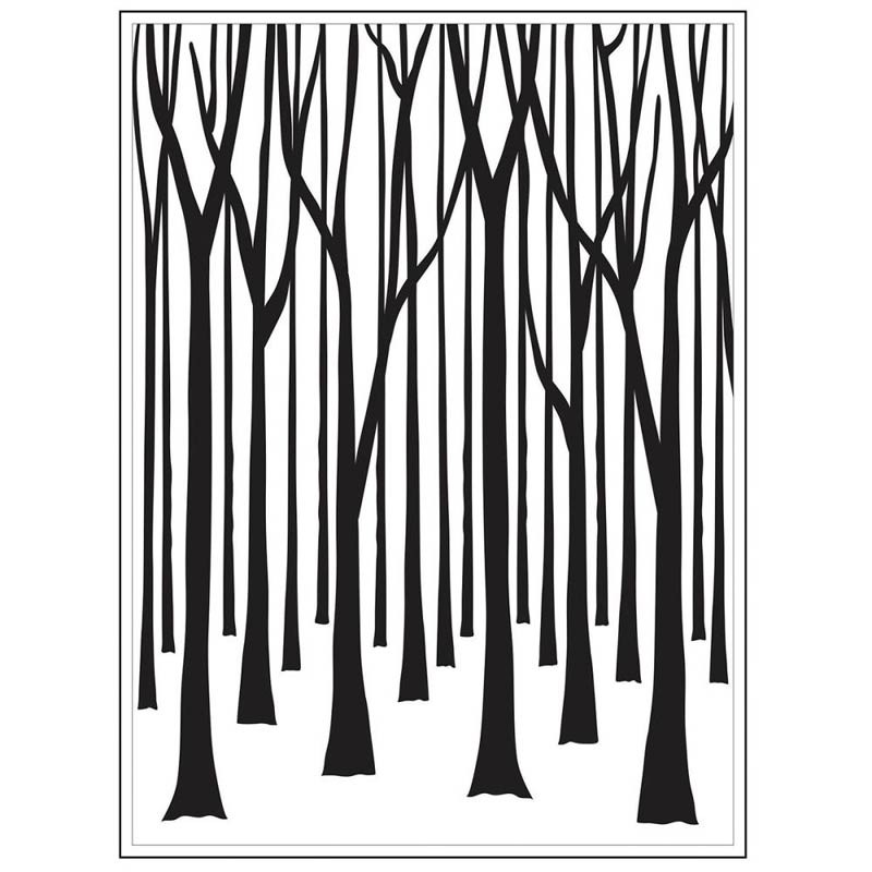 Thin  Tree Trunks Embossing Folder
