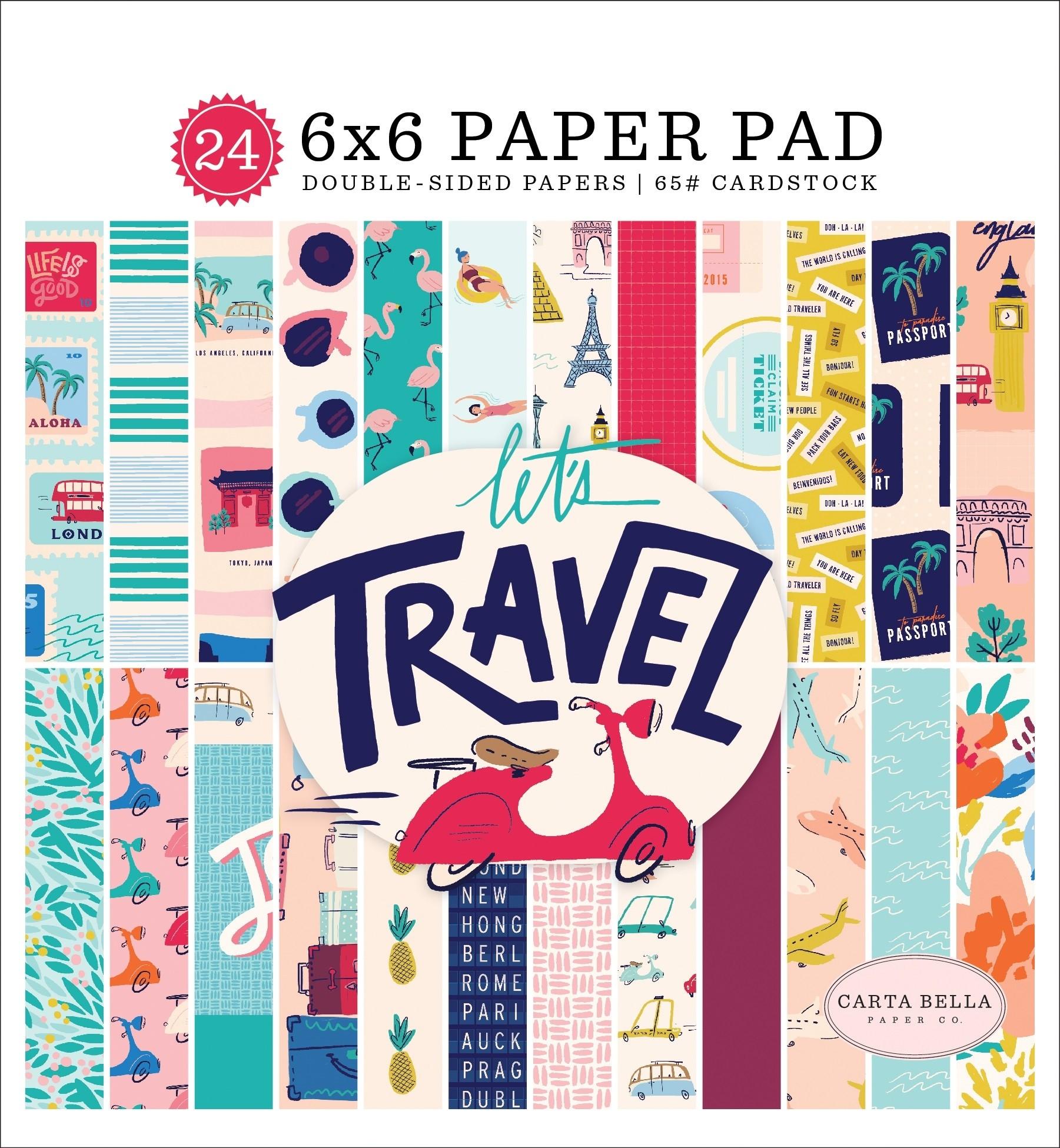 Carta Bella Let's Travel Paper Pack