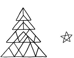 5661e - Triangle Tree Combo Rubber Stamp