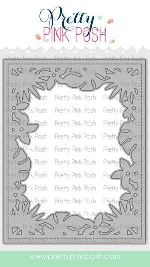 Pretty Pink Posh Tropical Frame Die