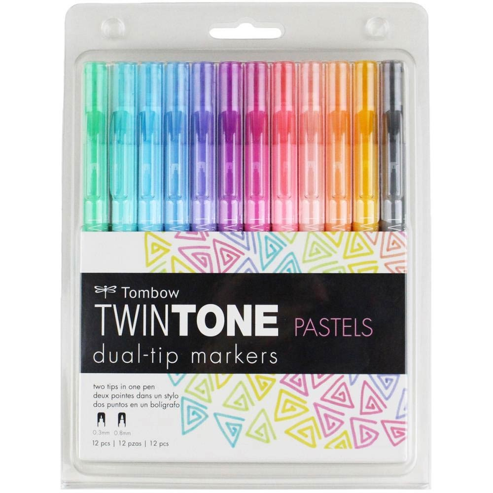 Tombow Twintone Pastels dual-tip markers