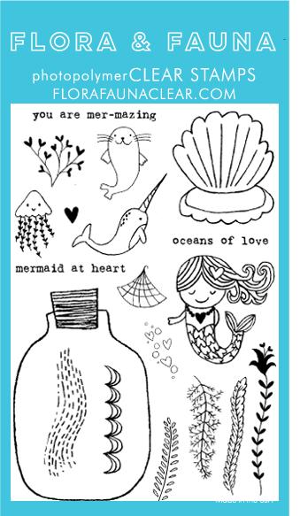 Flora and Fauna Mermaid Love Clear Set