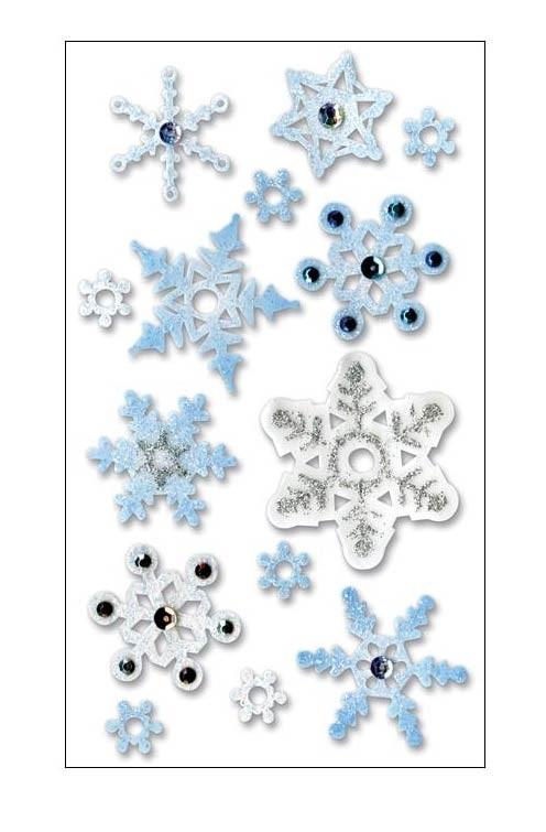 Snowflake Vellum Stickers