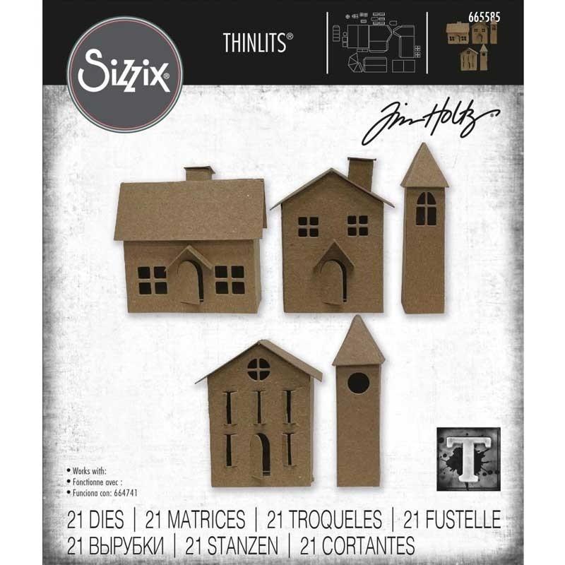 Tim Holtz Paper Village #2 Thinlits Dies 665585