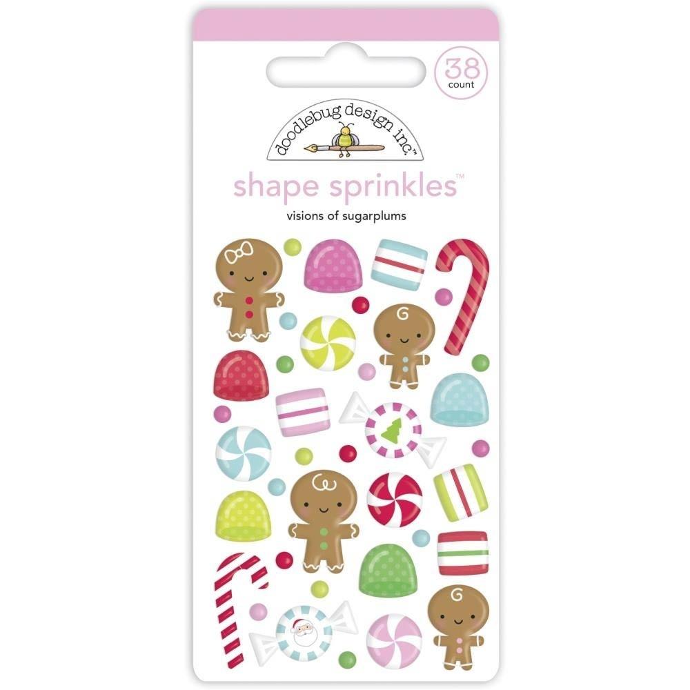 Doodlebug Shape Sprinkles - Visions of Sugarplums