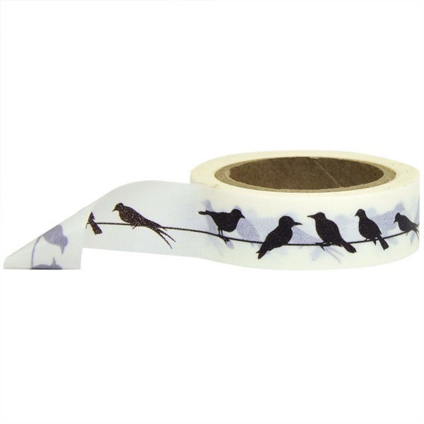 Birds on a wire washi tape
