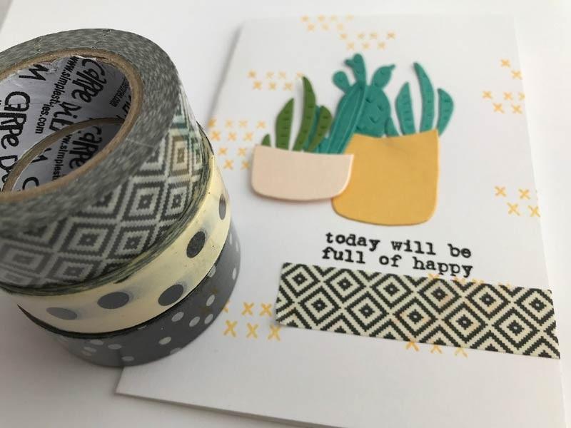 Black Patterns Washi Tape