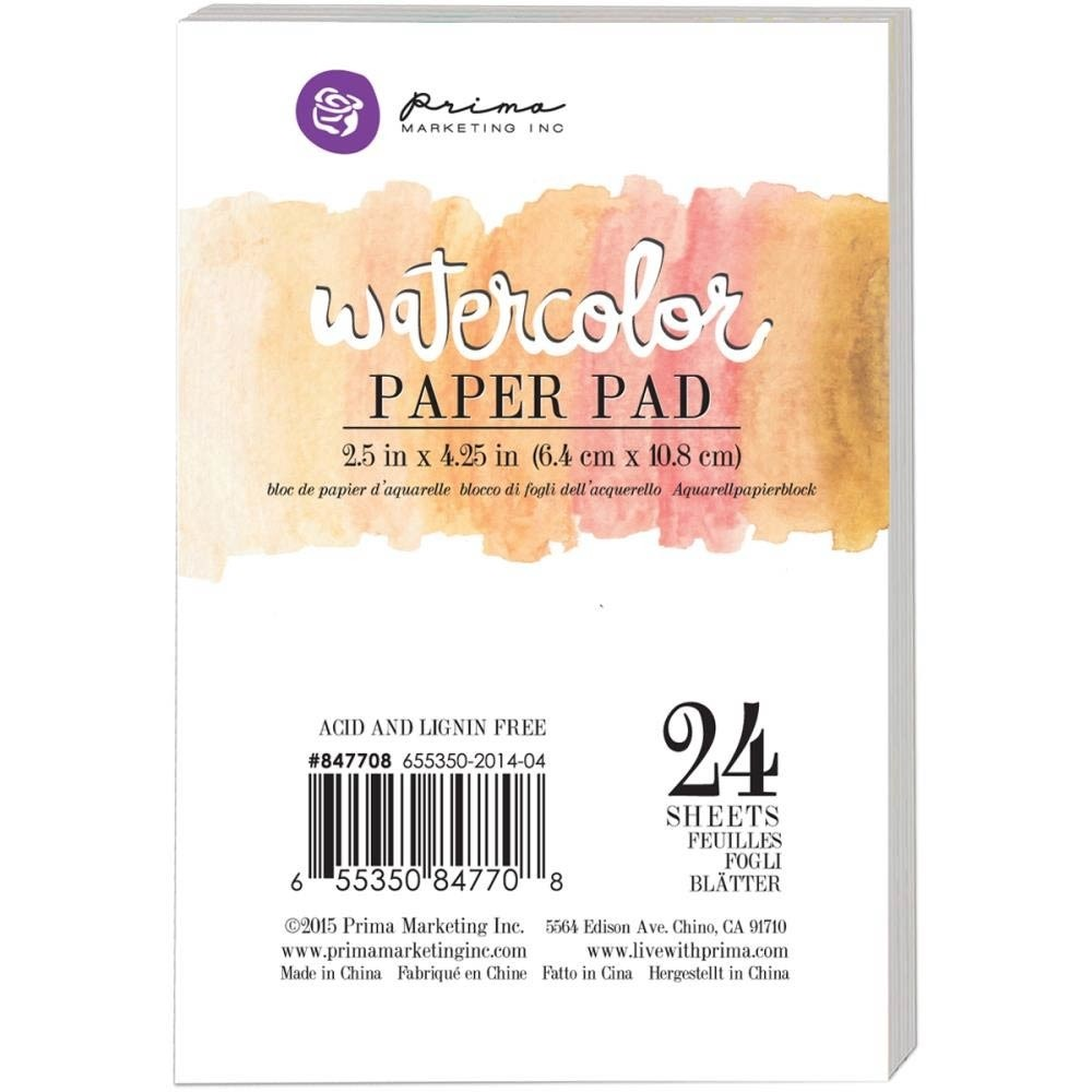 "Prima Marketing Watercolor Paper Pad 2.5""X4.25"" 24/Pkg"