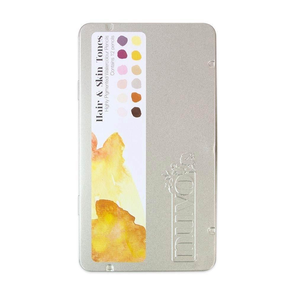 Nuvo - Watercolor Pencils - Hair & Skin Tones - 521n