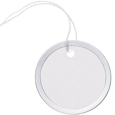 Silver Rimmed Circle Tags