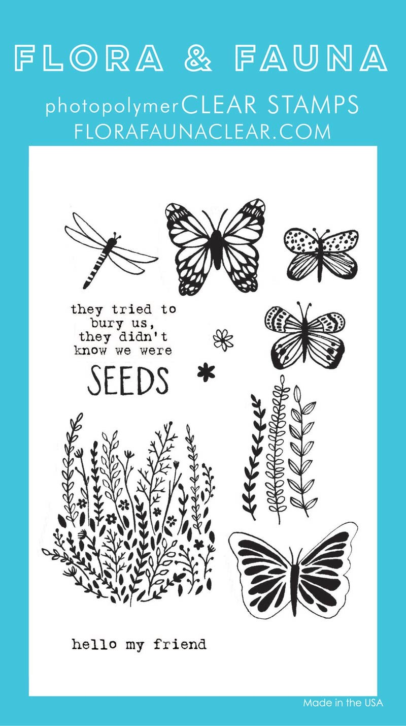 SALE - Flora & Fauna Wildflower Seeds Clear Stamp Set