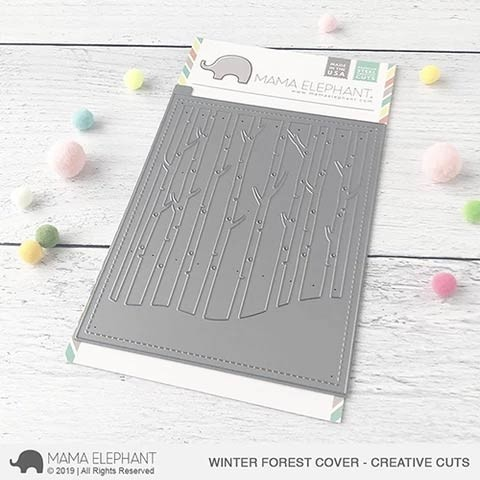 SALE - Mama Elephant Winter Forest Cover Cut