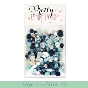 Pretty Pink Posh Winter Days Confetti Mix