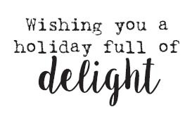 5666c - Holiday Full of Delight Rubber Stamp