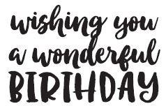Savvy Wishing You a Wonderful Birthday stamp 644e