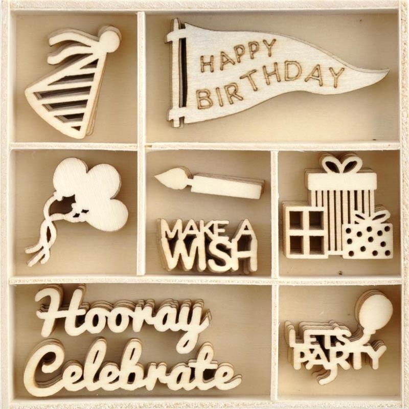 Birthday Wood Pieces