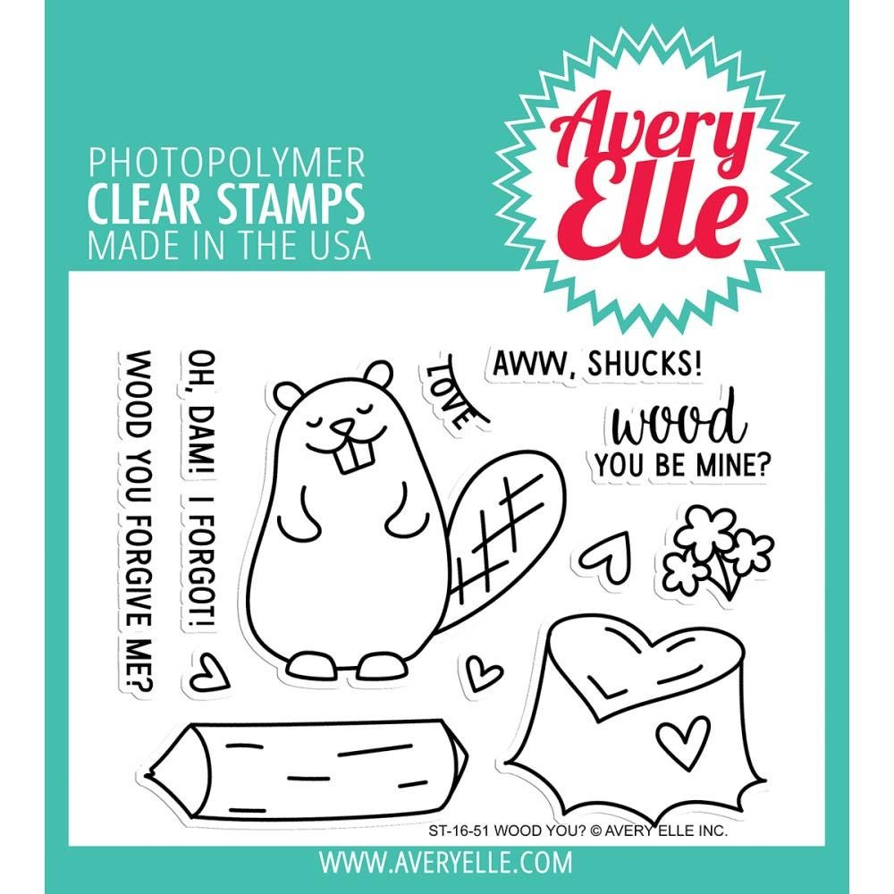 Avery Elle Wood You? Clear Stamps