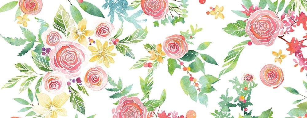 Rose Bouquet Wide Washi Tape WT499