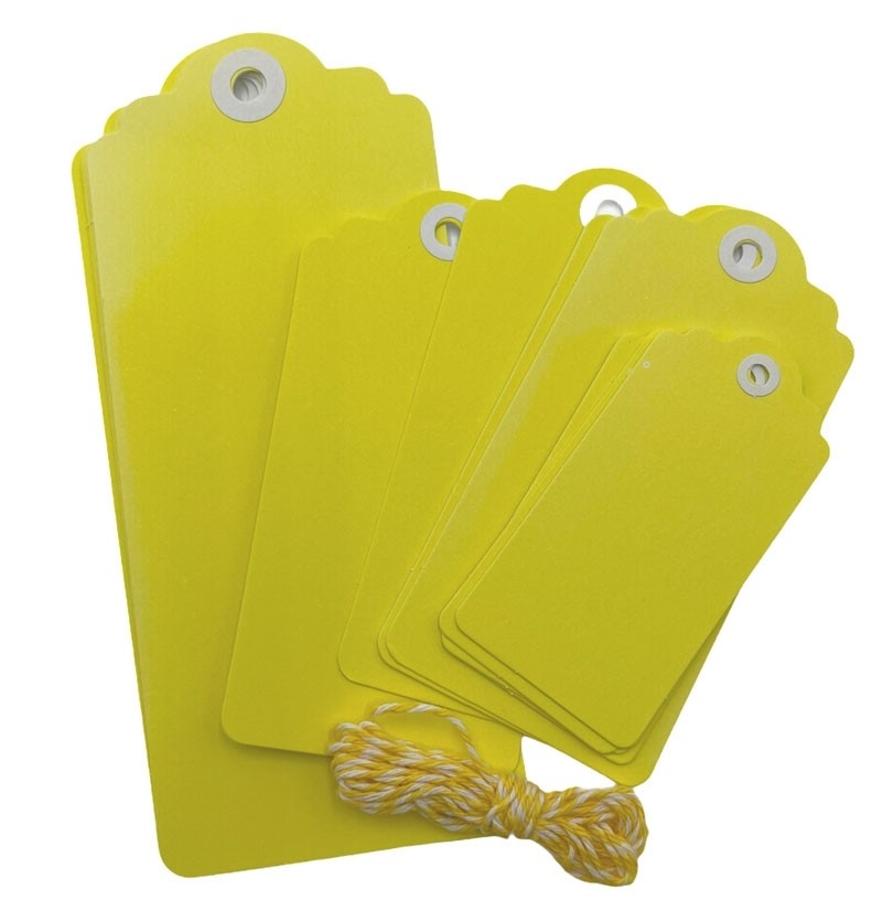 Yellow Scallop Tags