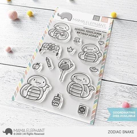 Mama Elephant Zodiac Snake Clear Stamp Set