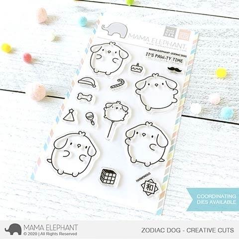 Mama Elephant ZODIAC DOG clear stamp