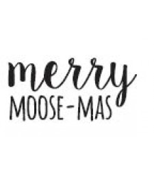merry moose-mas rubber stamp (1569b)