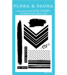 Flora and Fauna Texture 6 Clear Stamp Set