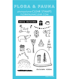 FLora and Fauna Woodland Snowglobe Clear Set 20194