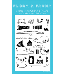 SALE - Flora and Fauna  Animal Sweaters Clear Stamps 20198