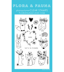Flora and Fauna Bohemian Woodland Animals Clear Set 20214